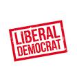 Liberal Democrat rubber stamp vector image