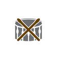 music drum logo vector image