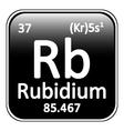 Periodic table element rybidium icon vector image