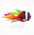 colorful abstract logo with letter J vector image