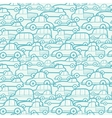 Doodle cars seamless pattern background vector image