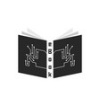 black ebook with pcb elements vector image vector image