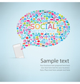 Template design Phone idea with social network vector image vector image