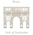 Arch of Constantine vector image