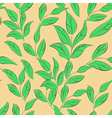 seamless wallpaper with leaves vector image vector image