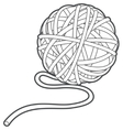 Ball of yarn outline vector image