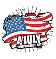 Independence Day of America USA flag grunge style vector image