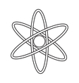 atom molecule structure model pictograph vector image