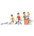 Boy and dog friends kife stages vector image