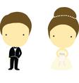 Bride and Groom Cartoons vector image