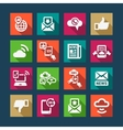 flat communication icons set vector image