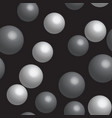 gray bubbles on black seamless pattern vector image
