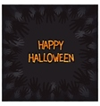 Halloween card design with zombie hands around vector image