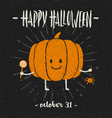 Halloween hand drawn vector image