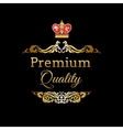 label with ruby king crown vector image
