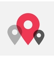 Map pointer flat icons vector image