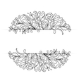 Monochrome Floral Background Hand Drawn vector image