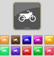 Motorbike icon sign Set with eleven colored vector image
