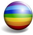 Rainbow design on round badge vector image