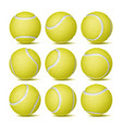realistic tennis ball set classic round vector image