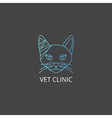 Veterinary cat logo vector image