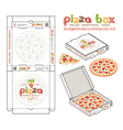 design of boxes for pizza vector image