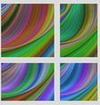 Multicolored psychedelic brochure background set vector image
