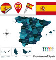 provinces of spain vector image