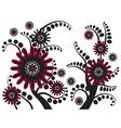 Background flower 1 vector image