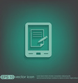 tablet pad with sheet of paper vector image