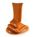 Flow caramel vector image