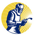 welder fabricator vector image