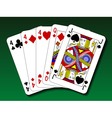 Poker hand - Three of a kind trips vector image