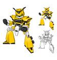 Robot Truck Cartoon Character vector image