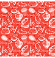 Beauty seamless pattern Cosmetic accessories vector image
