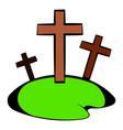 cemetery icon in icon cartoon vector image