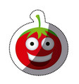 color kawaii happy tomato icon vector image