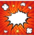 Comic speech bubble comic backgound vector image