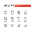Farm animals - line design icons set vector image
