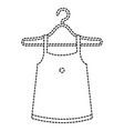 femenine blouse in hook vector image
