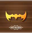 halloween golden bat animal silhouette vector image