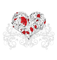 Heart made of floral vector image