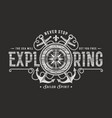 never stop exploring typography on black vector image