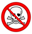 No Chemical Weapons vector image
