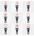 set of icon people objects vector image