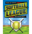 Softball League Banner vector image