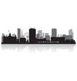 Birmingham city skyline silhouette vector image vector image