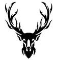 deer with horns image design tattoo emblem vector image