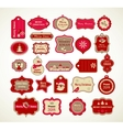 Xmas set - labels tags and decorative elements vector image vector image