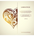 St Valentines greeting card design with heart shap vector image vector image